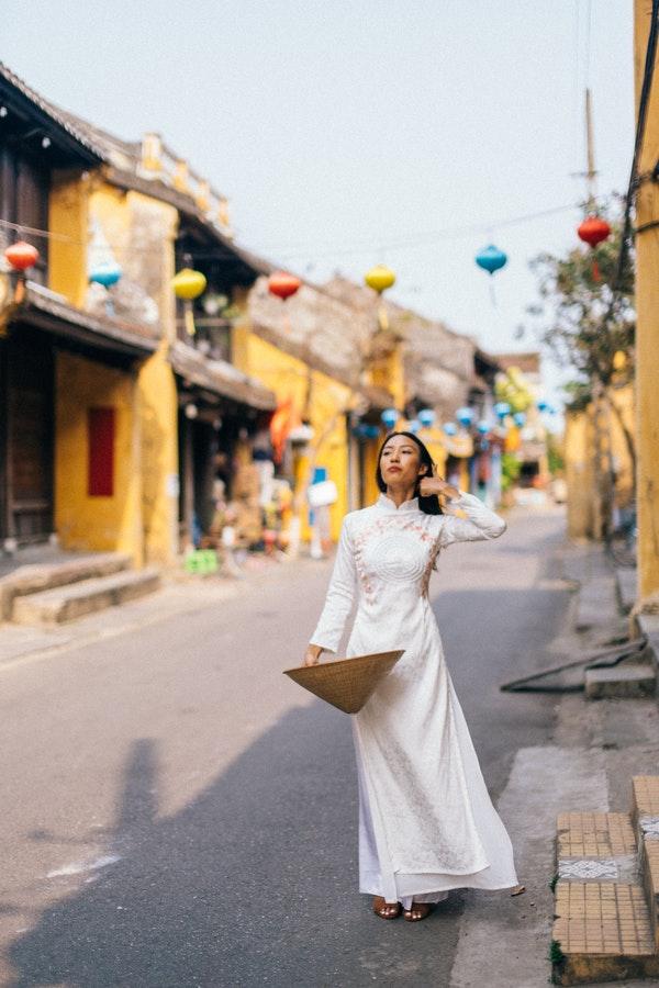 Woman on street in Vietnam