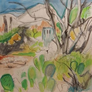 Cactus and South West Contemporary art by Lynn Farwell