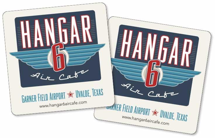 Hangar 6 Air Cafe Coasters