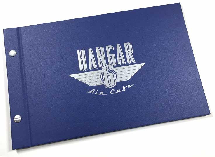 Hangar 6 Air Cafe Menu Cover