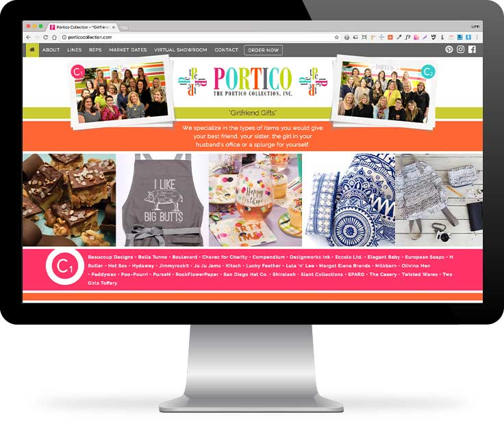 Portico Collection website screenshot