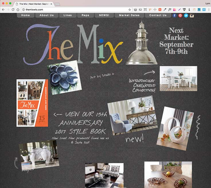 The Mix Showroom Website screenshot
