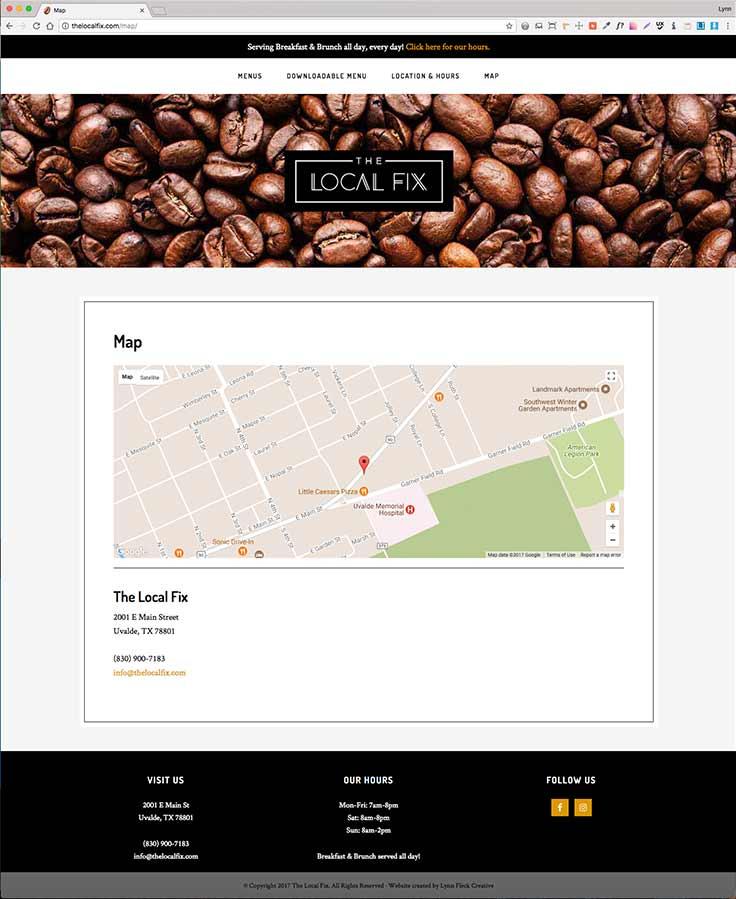 The Local Fix website screenshot