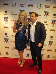Lynn Gilmartin interviewing Tony Hachem at the EJ Whitten Charity Poker Tournament