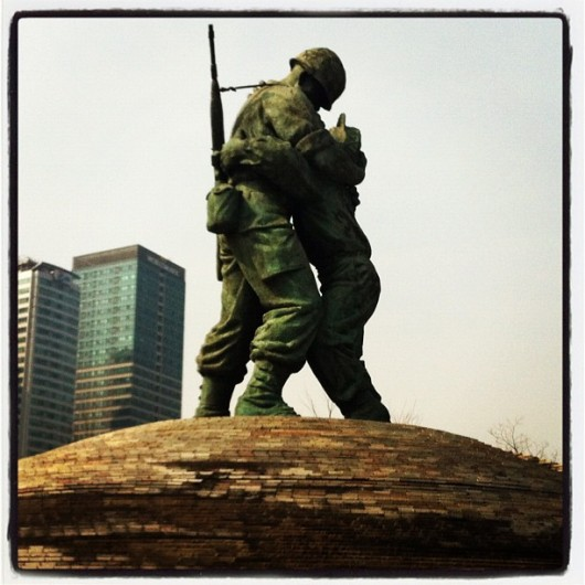 The Statue of Brothers at the Korean War Memorial