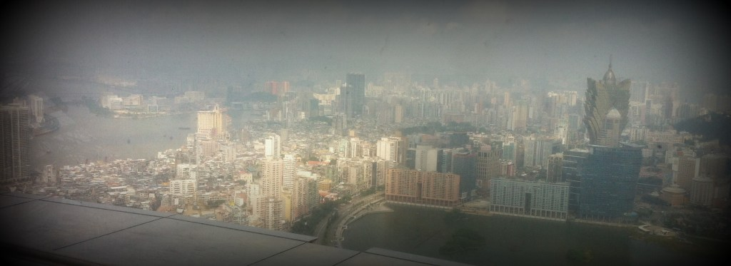 My foggy snap from the top of Macau Tower.