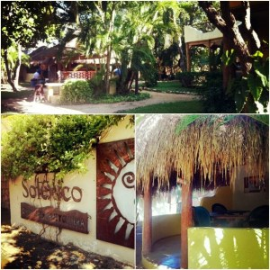 The beautiful grounds of Solexico in Playa del Carmen.