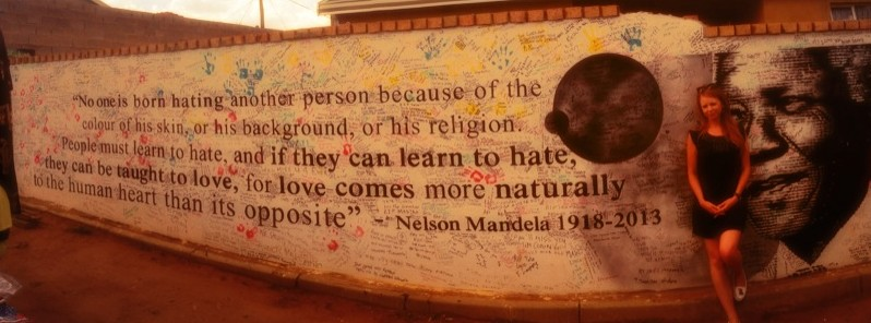 """No one is born hating another person because of the colour of his skin, or his background, or his religion. People must learn to hate, and if they can learn to hate, they can be taught to love, for love comes more naturally to the human heart than its opposite."" - Nelson Mandela"