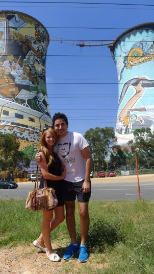 Angel and I at Orlando Towers in Soweto