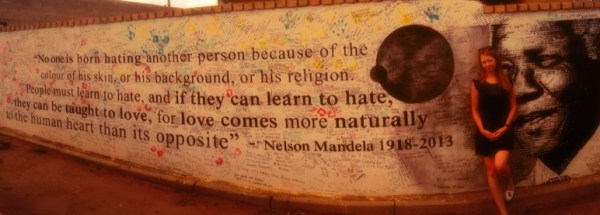 One of my favourite quotes, next to Mandela House in Soweto