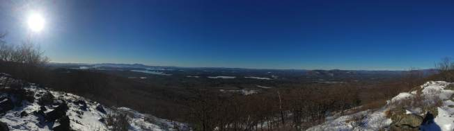 Panorama from the viewpoint.