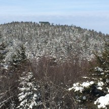 View of Gunstock from the clearing. The ski lift looked busy!