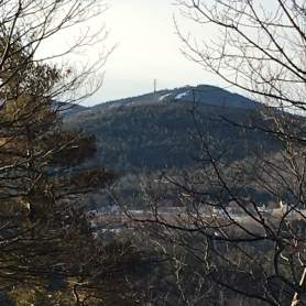 View to the south from the summit - Mt. Rowe (where I was two weeks ago) is the one in the front with the cell tower on top, and Gunstock (with the ski slopes) is just beyond.