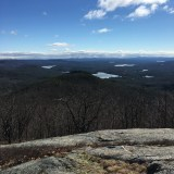 View from the south peak of Piper Mountain. Manning Lake is the large one in the middle.