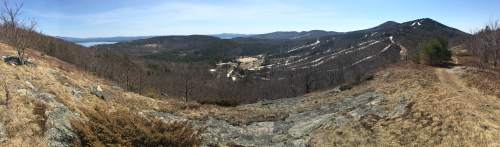 Panorama of the Gunstock resort from Mt. Rowe.