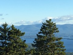 View of the Ossipee range from the Gunstock summit. You can see Chocorua peeking over the ridgeline there near the center.