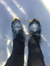 Good to be back on the snowshoes again! Hopefully I'll get a lot of use out of them this winter.