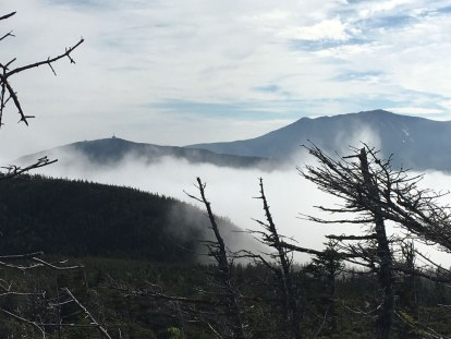 Excellent view of Cannon Mountain and Franconia Ridge from the junction.