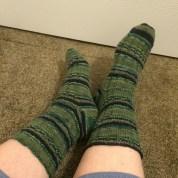 Garter-Rib Socks