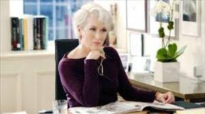 Streep in purple