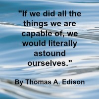 Quote - Thomas A,. Edison