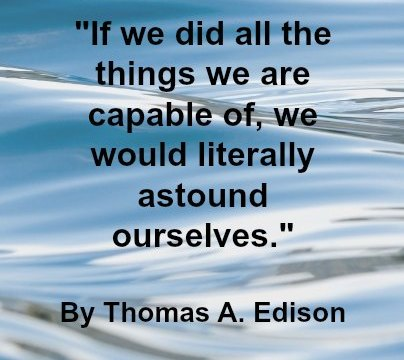 Quote - Thomas A,. Edison
