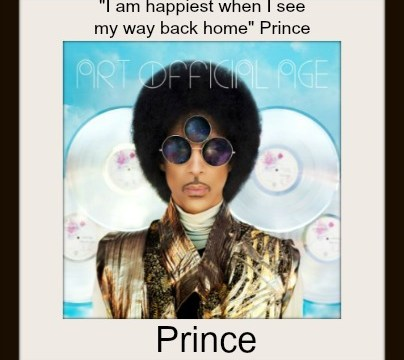 Quote - Happiest Way Back Home by Prince