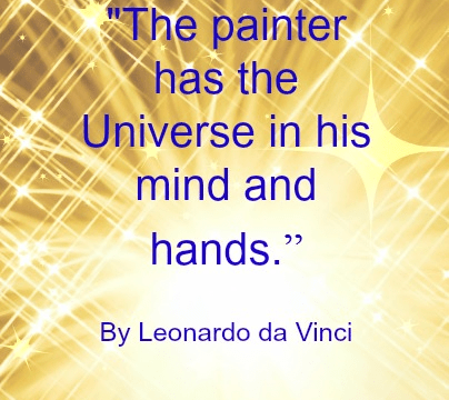 Quote - The Painter by Leonardo da Vinci