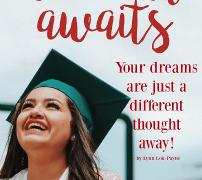 Quote - Your Dreams are just a different thought away by Lynn Lok-Payne