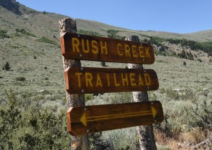 Trailhead sign Rush Creek