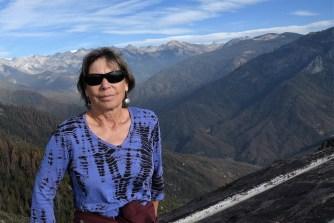 View behind me is looking west toward the Western Divide of the Sierras