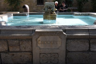 Fountain commemorating the fallen leaders of the Battle of the Alamo