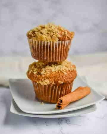 Apple Streusel Sourdough Muffins