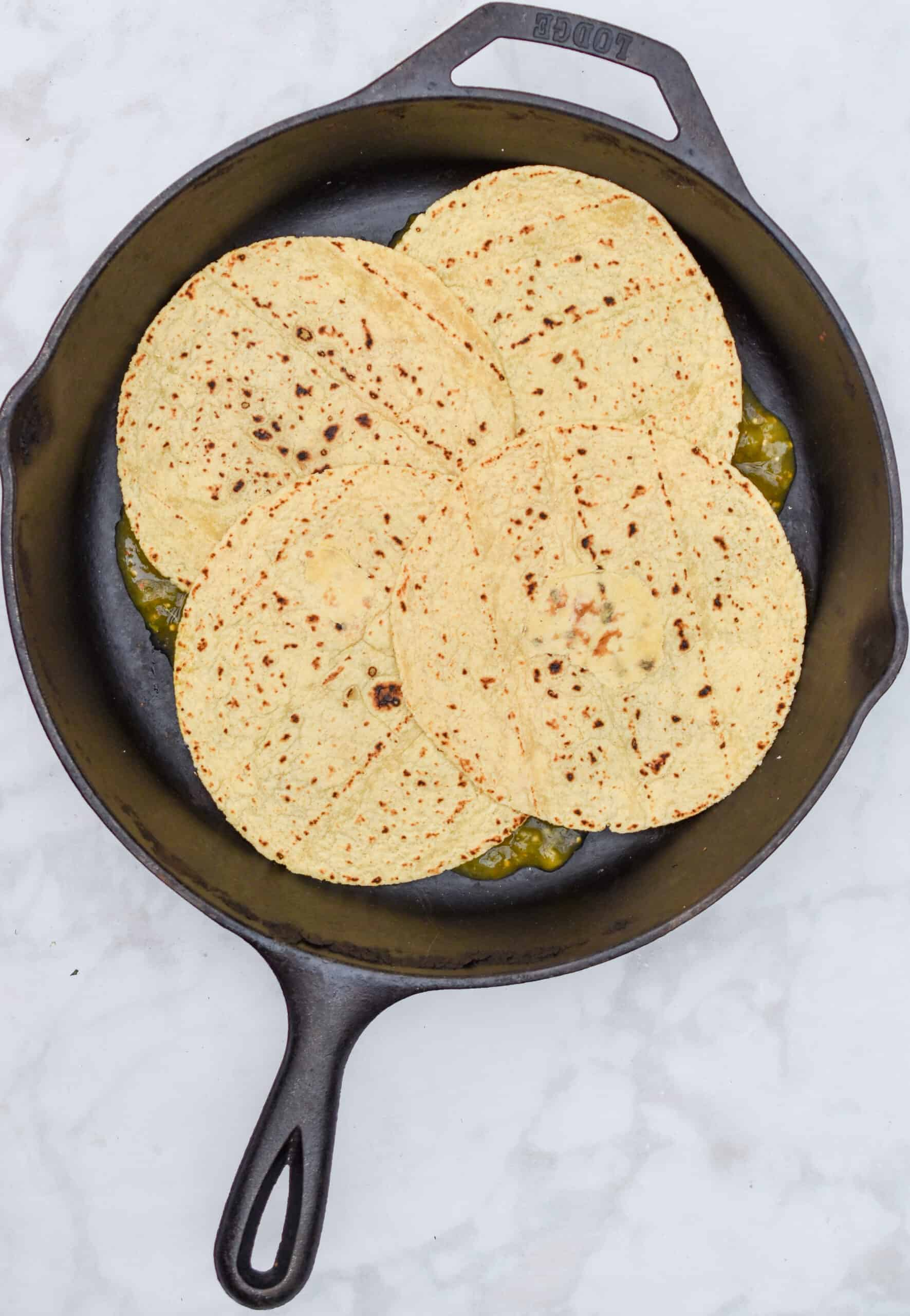 Add corn tortillas