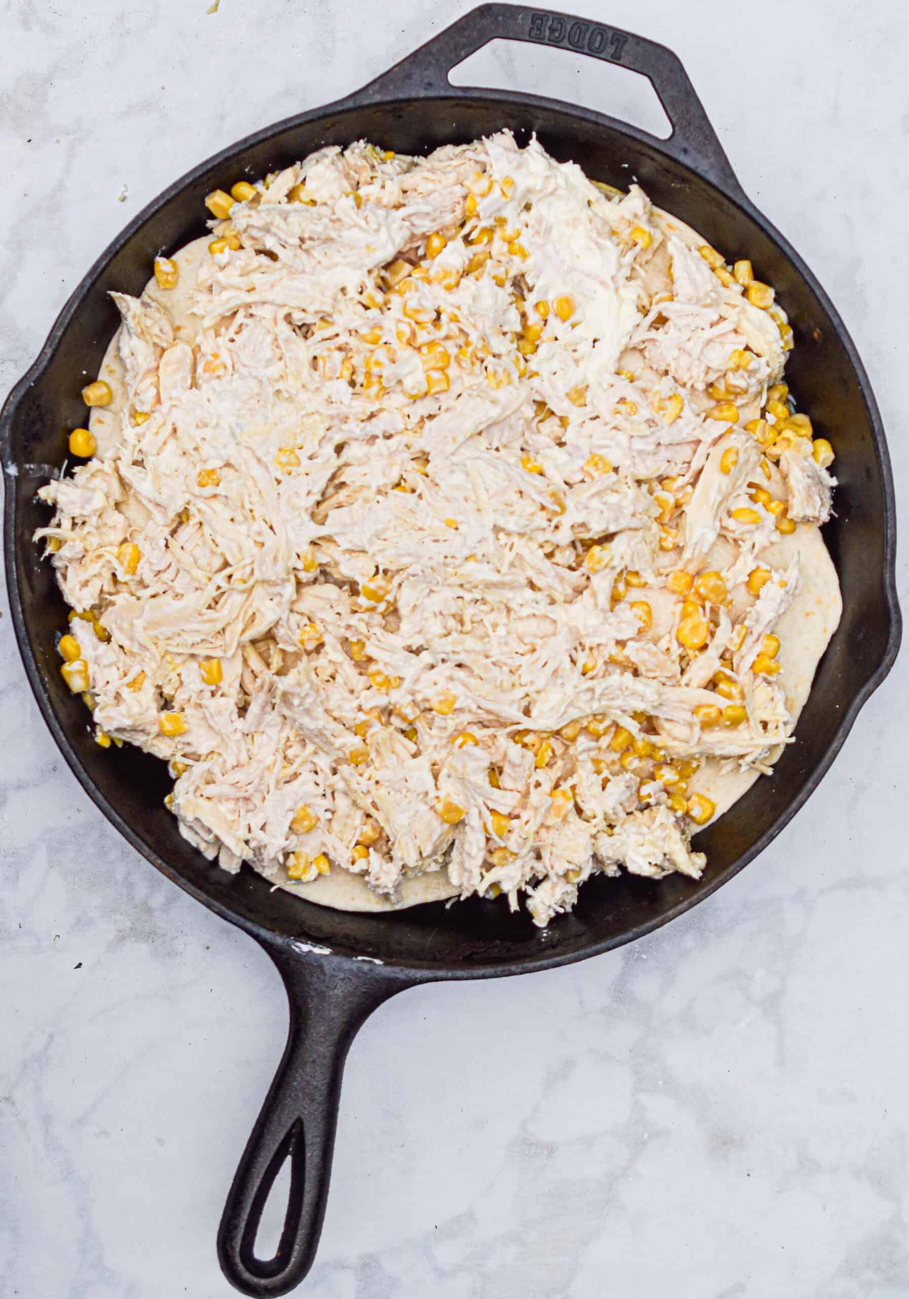 Add chicken and corn mixture