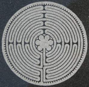 Labyrinth on marble