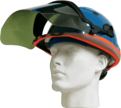 Orbis Reflective Headband Hardhat with Visor and Earmuffs