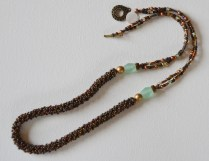 Woven bronze rope necklace