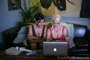 Beretta James and Lorelei Lee researching fisting before they try it (good idea!)
