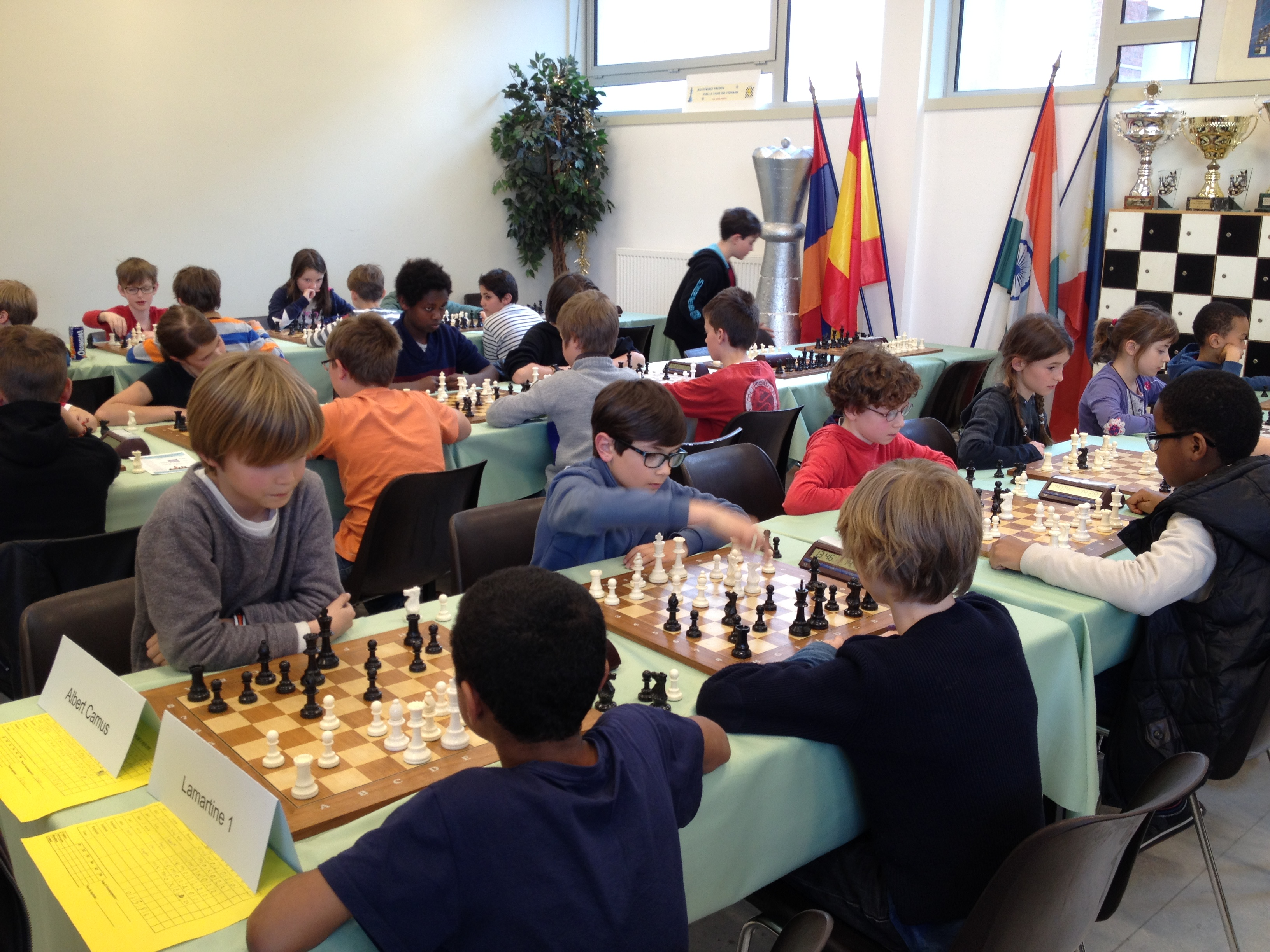 SCOLAIRES CHESS IN LYON
