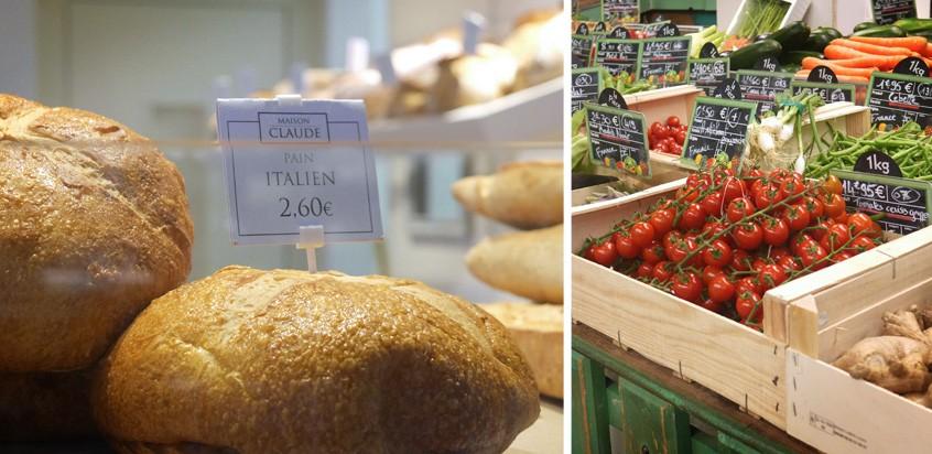 pain et tomates halles de lyon