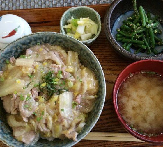 Chou chinois et porc mariné