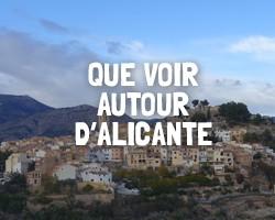 Que voir autour d'Alicante
