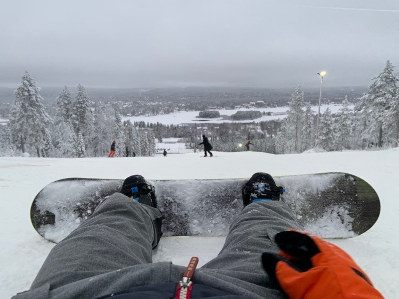 Snowboard in Lapland