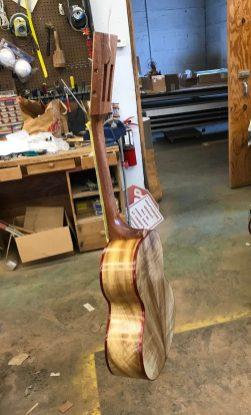 UKU-T-13 Tenor ukulele during finishing