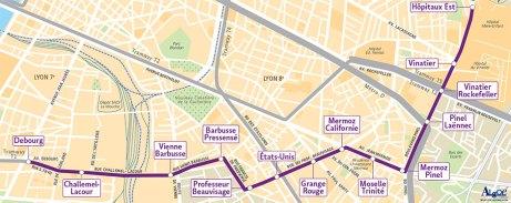 tracé prolongement tramway