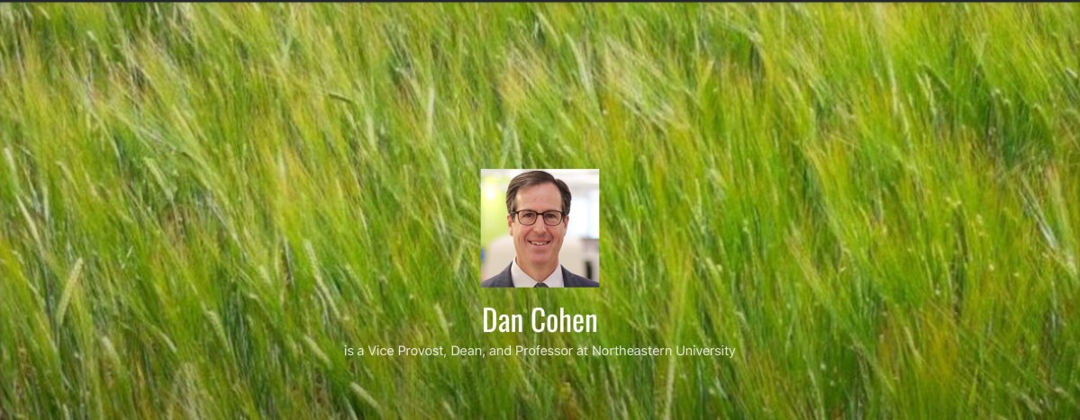 Back to the Blog – Dan Cohen