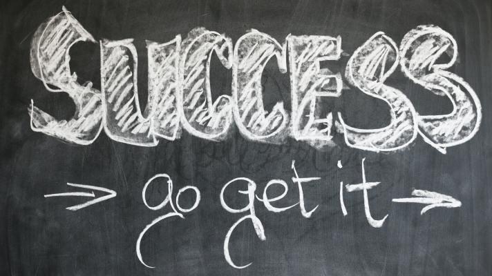 """A chalkboard reads """"Success - go get it."""""""