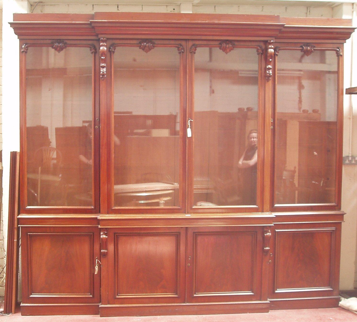 Lot 425 A Mid Victorian Mahogany Breakfront Bookcase