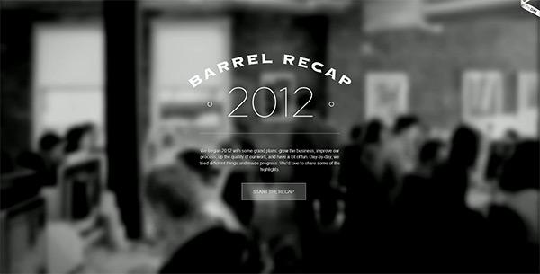 Barrel 2012 Recap in 50 Creative Full Screen Video Background Websites
